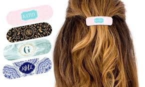 hair barettes personalized hair barrettes groupon