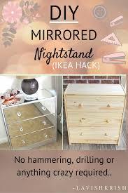 diy mirrored nightstand diy mirror hammer drill and nightstands