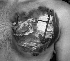 Mens Chest Tattoos - 50 small chest tattoos for guys masculine ink design ideas