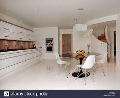 interiors kitchen stairs white stock photos u0026 interiors kitchen