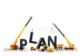 build plan build up a plan machines building plan word stock image image of