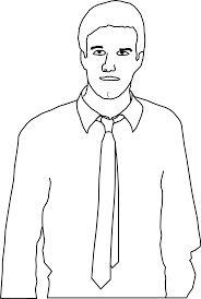 clipart man with tie