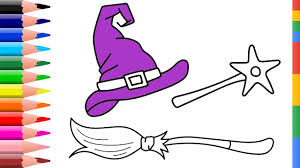 draw witch set coloring pages for kids coloring pages magic