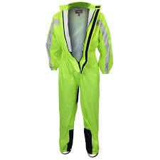 motorcycle riding apparel one piece high visibility yellow rain suit jafrum