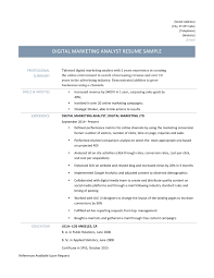sample pr resume marketing intelligence specialist resume upcvup top marketing digital marketing analyst resume template and description resume marketing