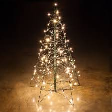 Outdoor Lighted Christmas Decorations by Lighted Warm White Led Outdoor Christmas Tree