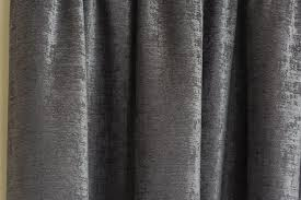 Luxury Grey Curtains Stylish Grey Chenille Heavy Jacquad Pencil Pleat Top Thermal