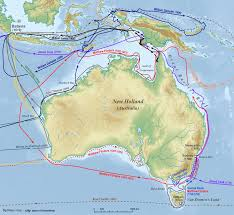 New Zealand And Australia Map European Exploration Of Australia Wikipedia