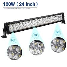 Spot Or Flood Led Light Bar by Amazon Com 4pack 24