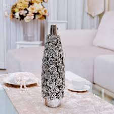 Large Floor Vases For Home Modern Home Ceramic Vase Living Room Decoration Rose Bottle Crafts
