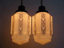 art deco pendant lights exceptional pair of art deco pendant lights w large patterned