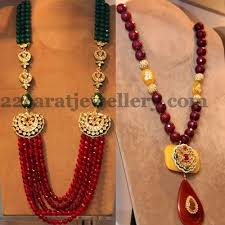 ruby beads necklace images Stylish fancy ruby beads sets my mughal empire pinterest jpg