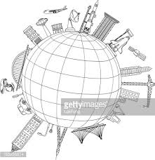 travel around the world illustration vector art getty images
