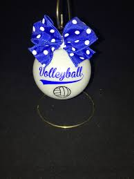 christmas ornament personalized for volleyball player ornament