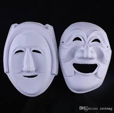 unpainted masks wizard unpainted white mask environmental paper pulp