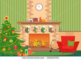 livingroom flat interior vector illustration stock