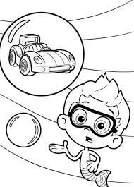 bubble guppies coloring pages goby coloring pages
