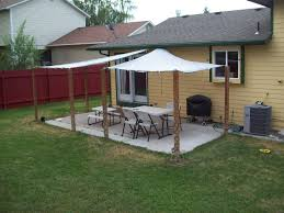 exteriors decoration minimalist backyard shades design with