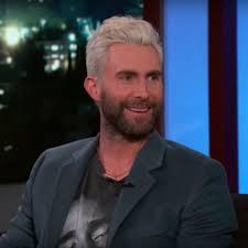 jimmy kimmel hair loss adam levine on jimmy kimmel live january 2018 popsugar celebrity