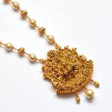 beaded gold chain necklace images Anvi 39 s lakshmi pendent temple jewellery with gold beads and jpg
