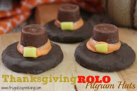 rolo pilgram hat cookie recipe thanksgiving food craft