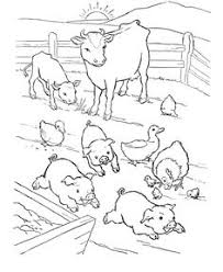 free farm animal coloring pages farm animal coloring page pigs napping chicken prints