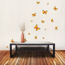 yellow butterfly wall stickers for nursery baby rooms decorative yellow butterfly wall stickers decor for baby nursery rooms wallstickery com