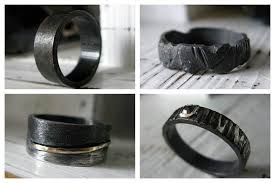 black wedding rings black wedding and engagement rings from the side misfit wedding