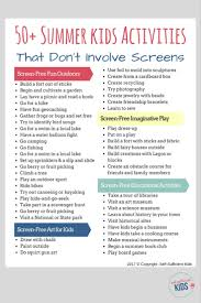 50 screen free activities kids can do this summer