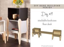 more like home diy desk series 19 stackable bookcase floor desk