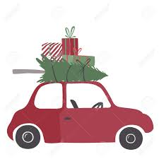 christmas tree on top of car clipart clipartxtras