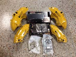 nissan 350z brembo brakes new cadillac cts v 6 piston yellow brembo calipers front u0026amp