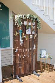 backdrop for guests to hang their pictures on from a boho baby