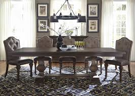 liberty lucca double pedestal dining set in cordovan brown best liberty lucca double pedestal dining set in cordovan brown