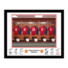Dressing Room Pictures by Personalised Manchester United Dressing Room Print