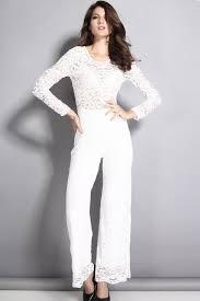 lace jumpsuits white lace sleeve cutout back jumpsuit rompers