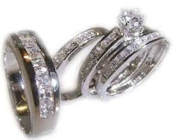wedding ring sets his and hers cheap inspirational wedding rings set for him and white gold cz
