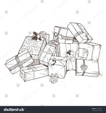 christmas gifts sketch stock vector 346342970 shutterstock