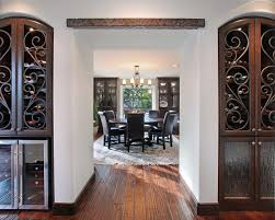 Wine Cabinet With Cooler by Wine Hutch Dining Room Mediterranean With Arch Area Rug Beverage