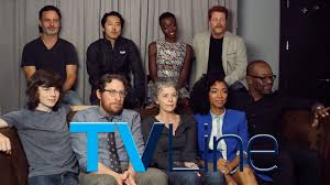 new walking dead cast 2016 the walking dead interview at comic con 2015 tvline youtube