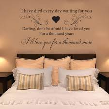 items in custom kings shop on ebay a thousand years christina perri quote wall art sticker decal mural lyrics