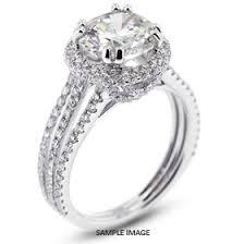 semi mount engagement rings 18k white gold split shank semi mount engagement ring with 1 43