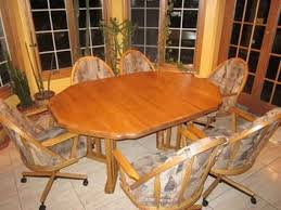 Dining Table And Chairs On Wheels 10 Best Swivel Tilt Caster Dining Sets Images On Pinterest
