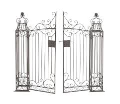 Metal Arbor With Gate Amazon Com Deco 79 41391 Metal Garden Gate 64 By 60 Inch Home