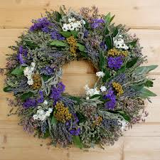 herb wreath garden herb wreath features a generous mix of herbs flowers