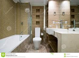 Bathroom Floor Mosaic Tile - modern bathroom with marble floor and mosaic tiles stock photos
