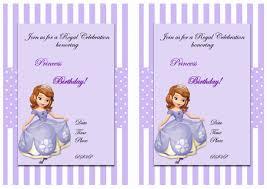 sofia birthday invitations u2013 birthday printable