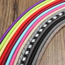5m 2 cord 0 75cm colorful vintage retro twist braided fabric light