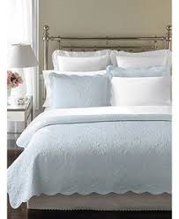 Blue Quilted Coverlet Sferra Bradley Bedding Collection Denise Drake Onto For The Home