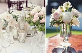 elegant wedding reception decor centerpiece vases mercury glass 6